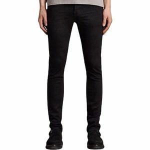 All Saints Men's Crow Pistol Cigarette Jeans Black